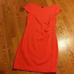 Ann Taylor knit ruched dress